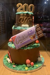 Cailler's 200th Anniversary chocolate cake